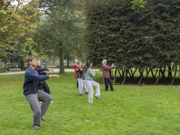 Taijiquan les in Amsterdam West